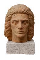 Cabeza de Faycán 1950-51. Plácido Fleitas. Arenisca y mármol