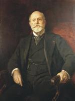 Fernando León y Castillo, por sobre lienzo. 1905 Raimundo Madrazo. Óleo