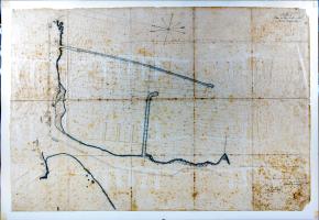 Plano Puerto de Refugio de La Luz y Las Palmas 1881