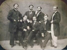 Fernando León y Castillo con un grupo de estudiantes canarios en Madrid (ca. 1860)